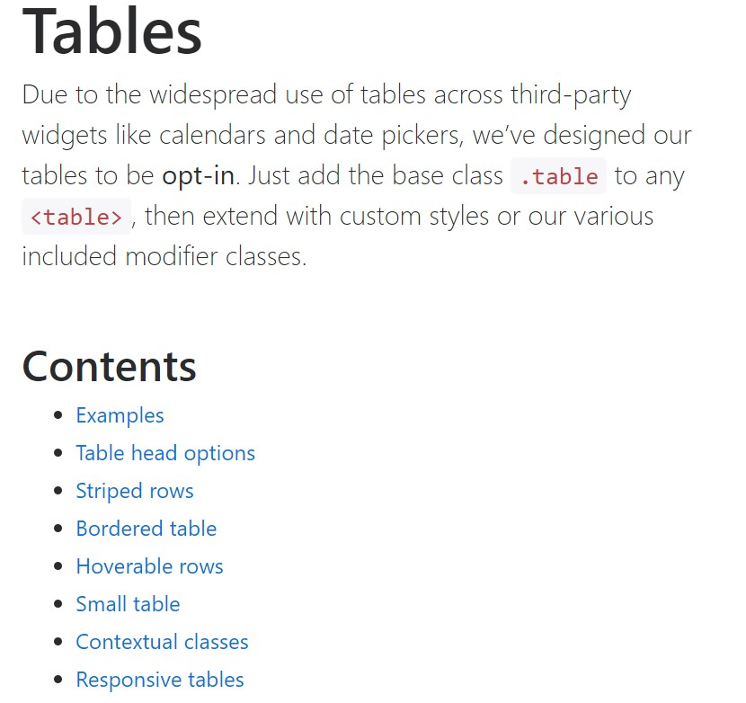 Bootstrap tables  main  documents