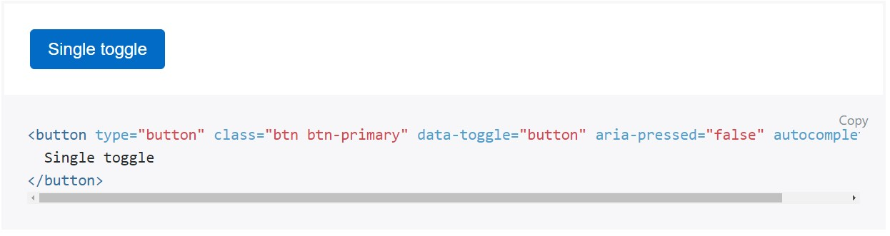 Toggle states  provided  from Bootstrap buttons