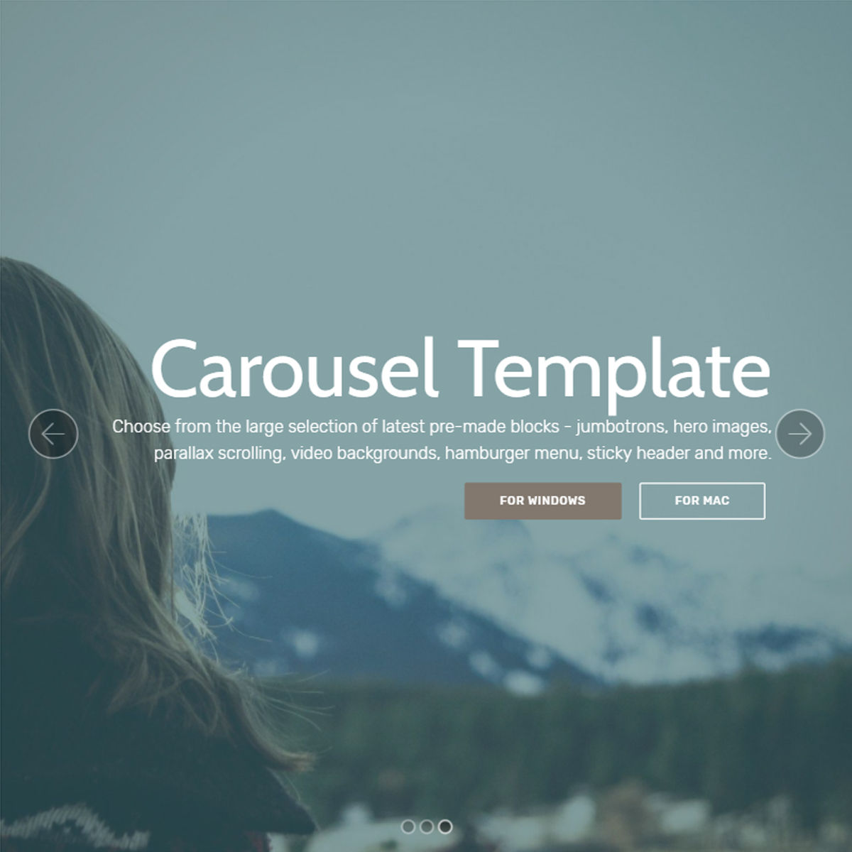 HTML Bootstrap  carousel  Templates