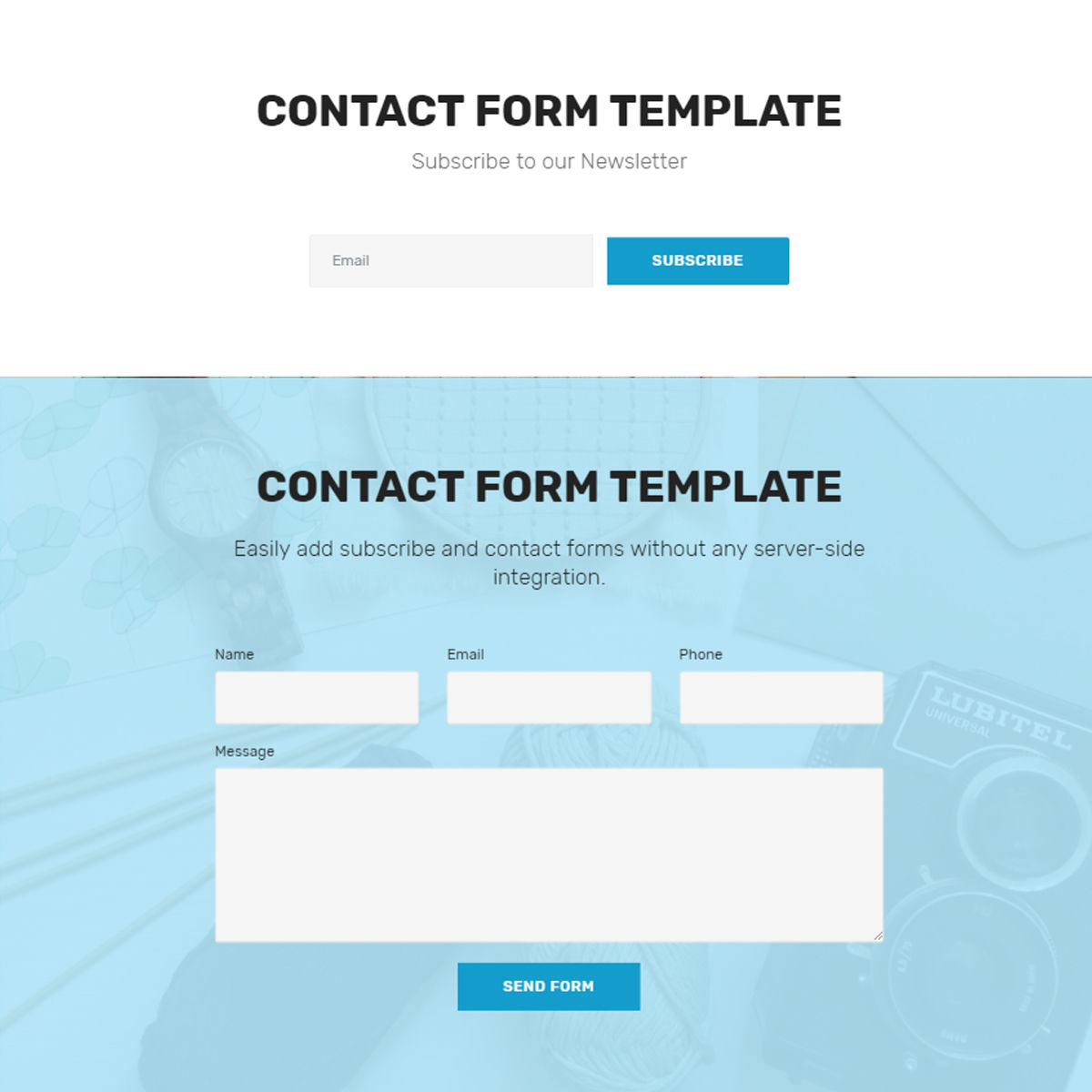 Responsive Bootstrap  contact form  Templates
