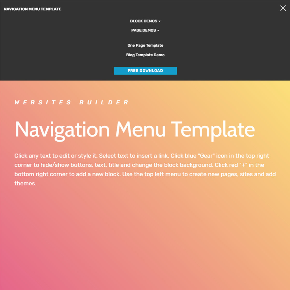 responsive bootstrap navigation menu templates free template download