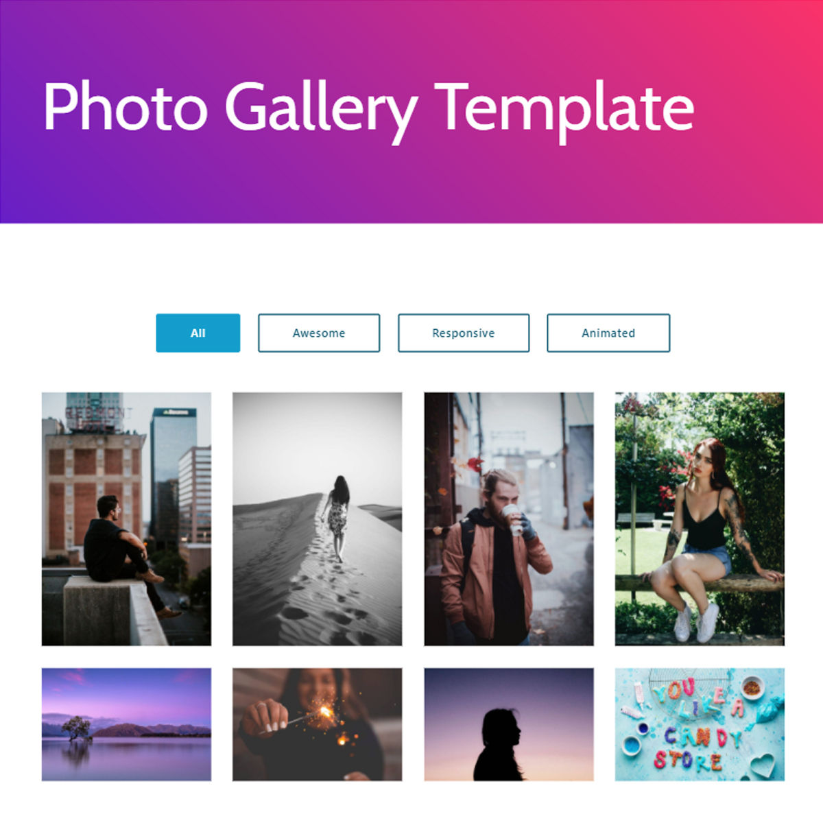 Free Download Bootstrap  photo gallery  Templates