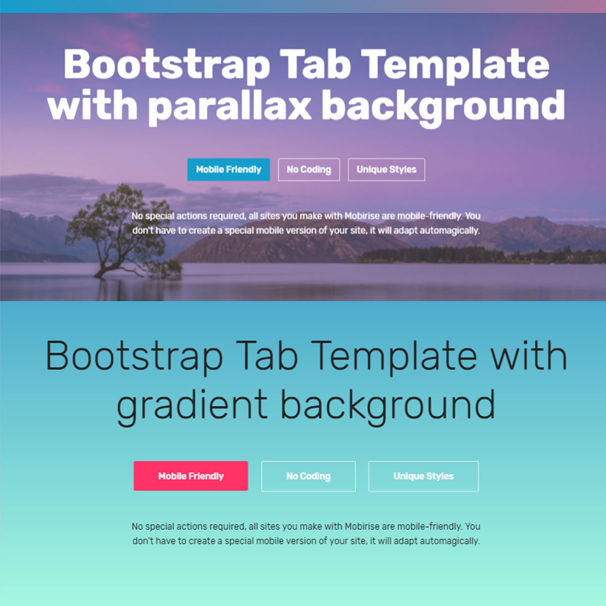 Free Download Bootstrap  tab  Themes