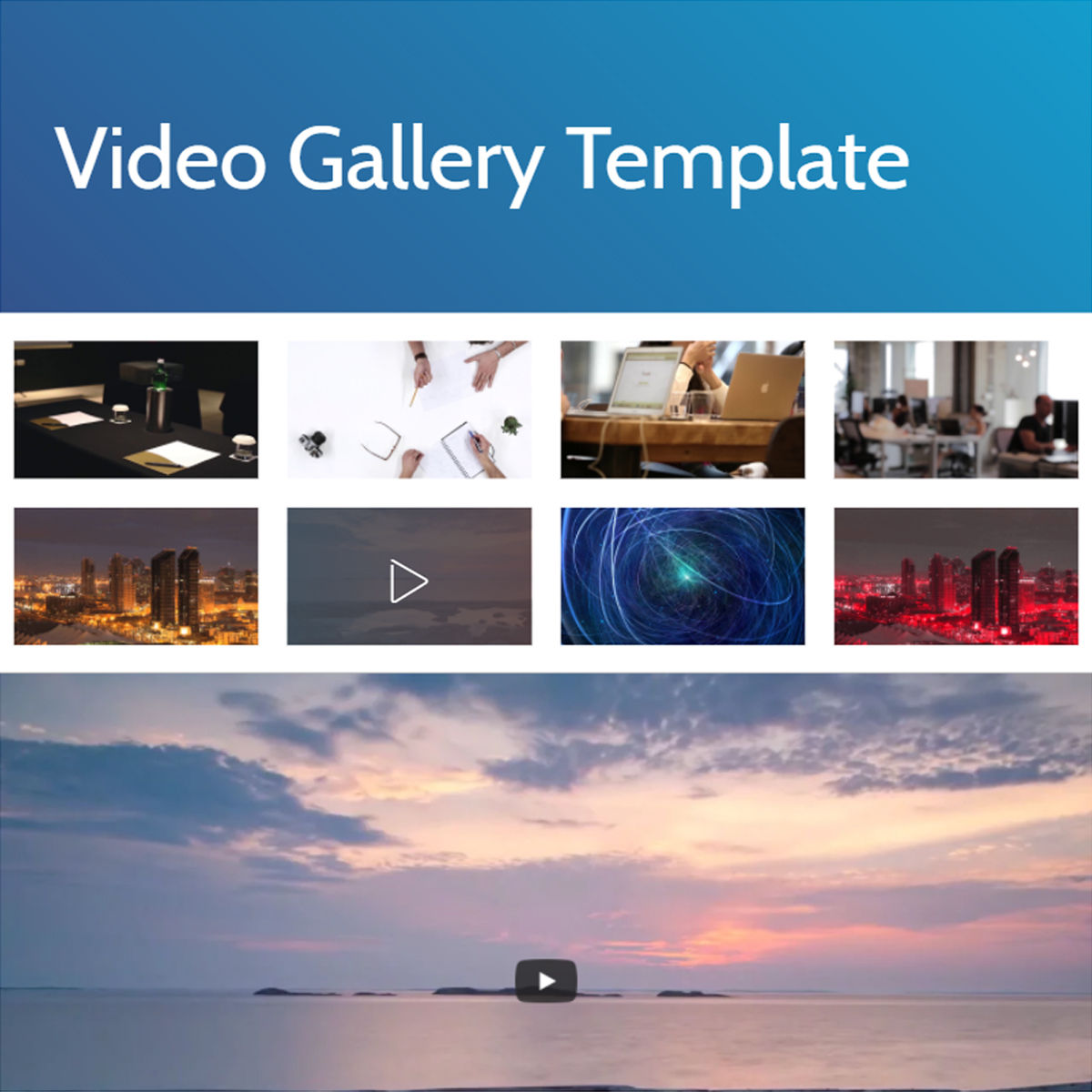 HTML Bootstrap  video gallery  Templates