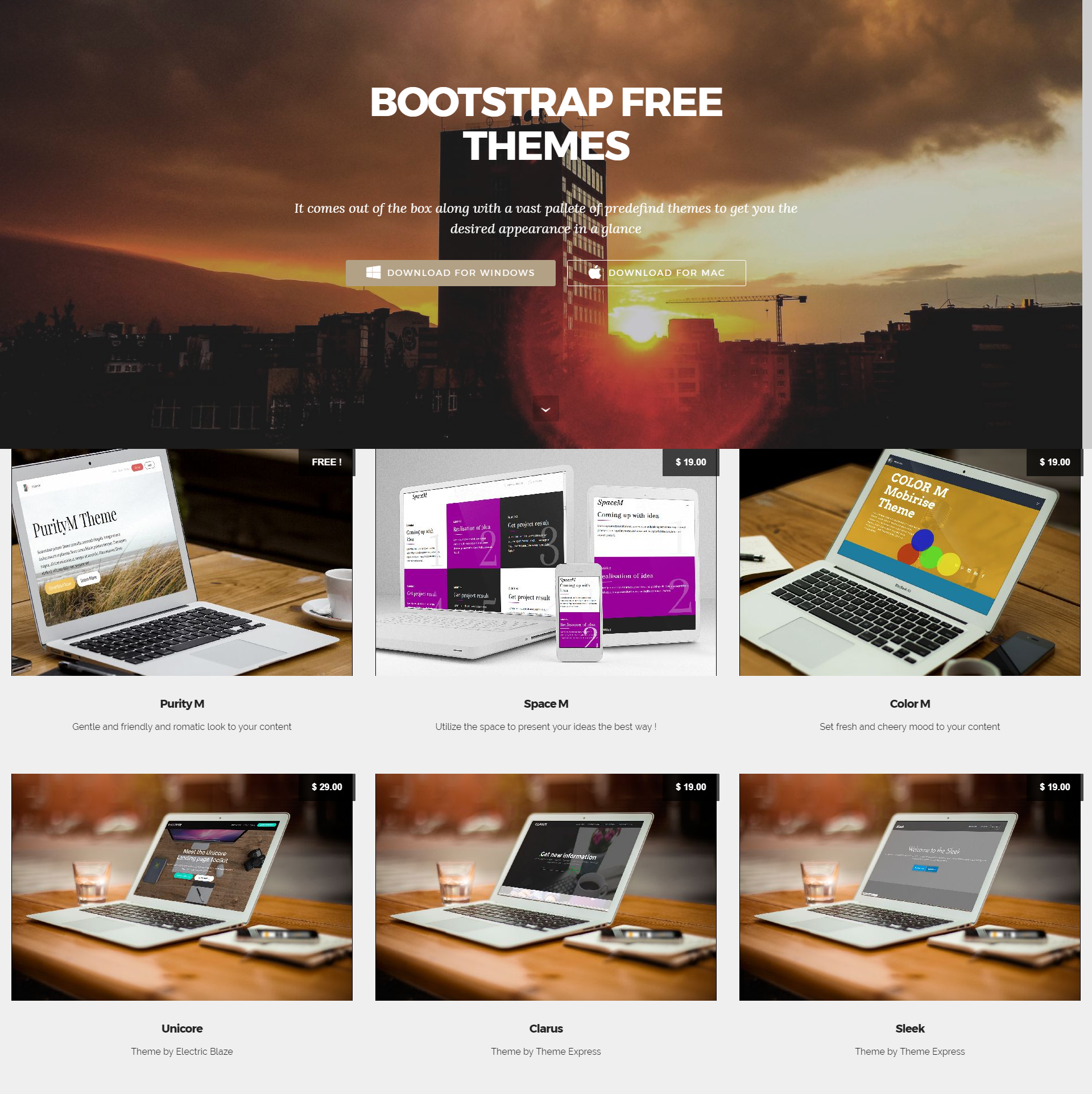 Bootstrap Free Themes