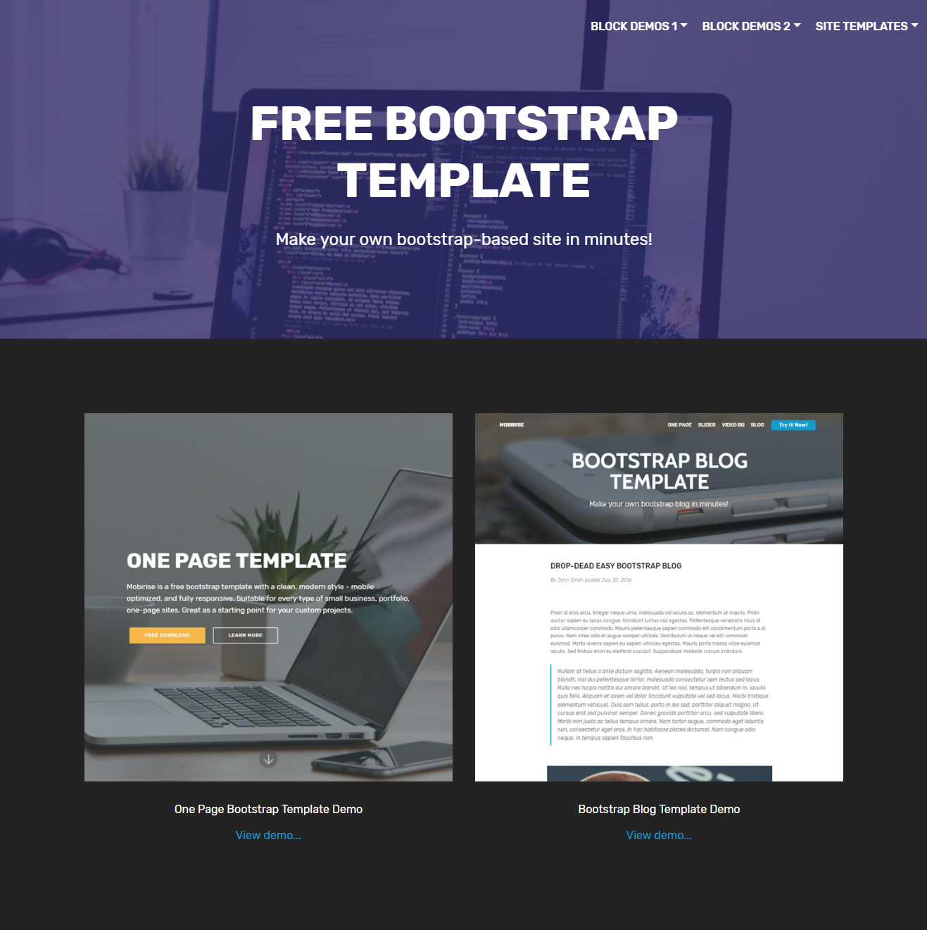 39 brand new free html bootstrap templates 2018 for Free bootstrap templates 2017