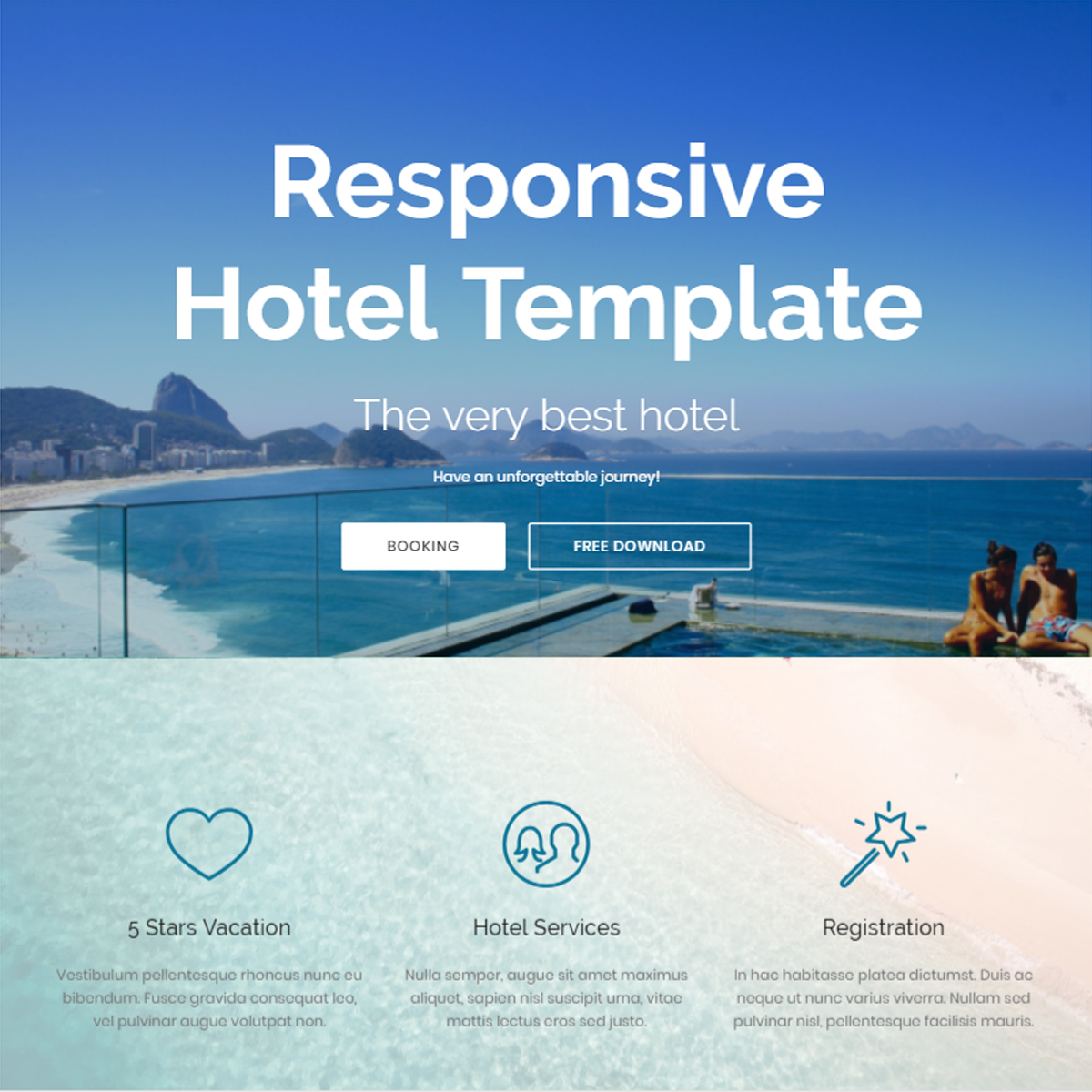 Responsive Hotel Bootstrap Template