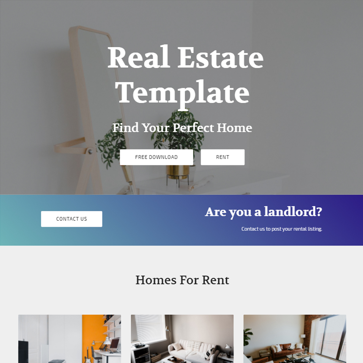 Bootstrap Real Estate Template