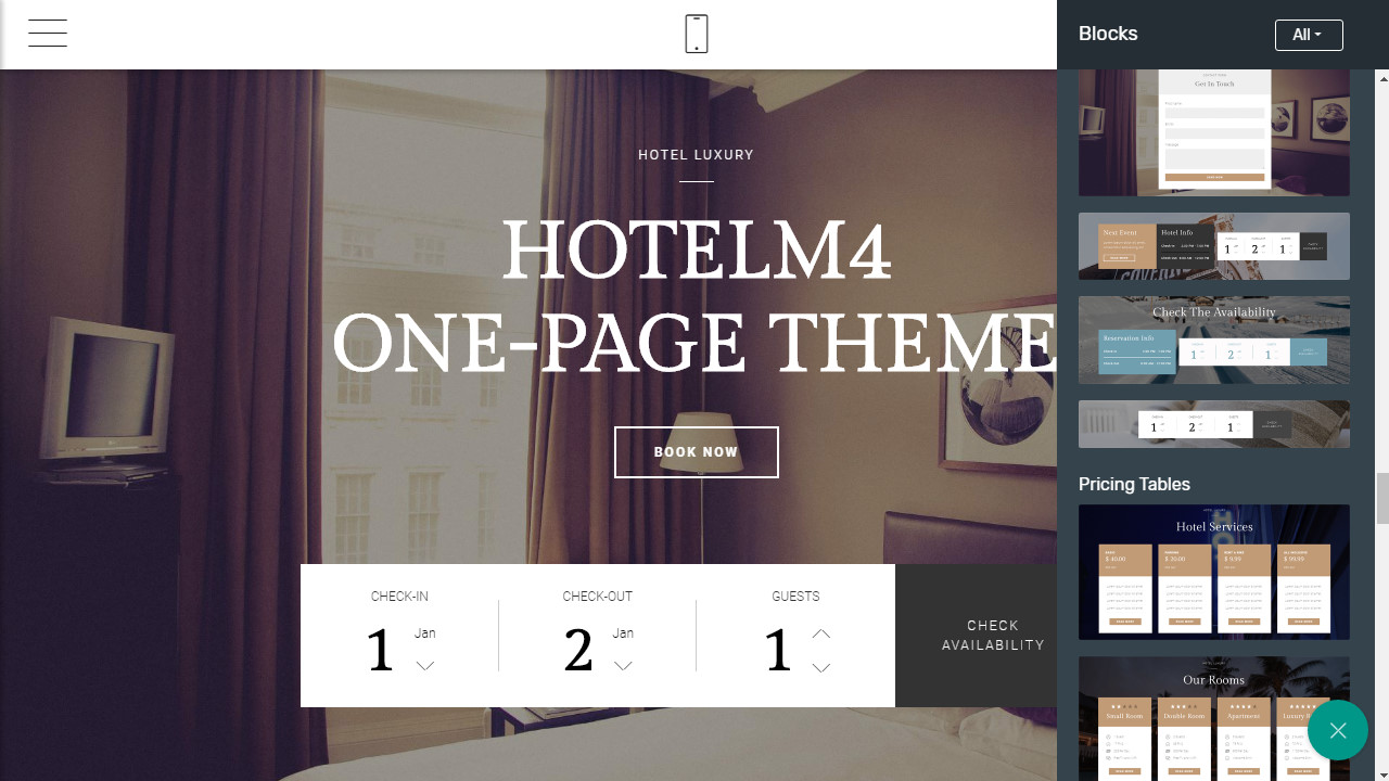 free one-page website template