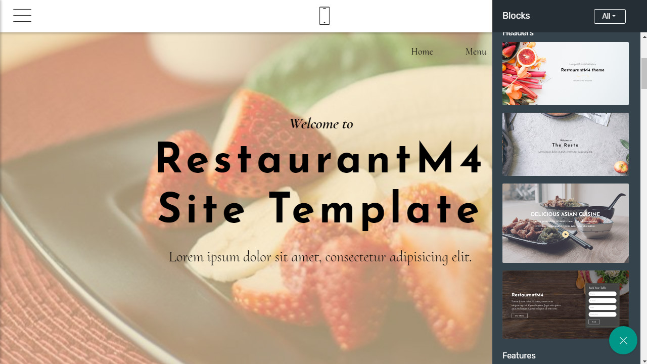 free one-page website templates