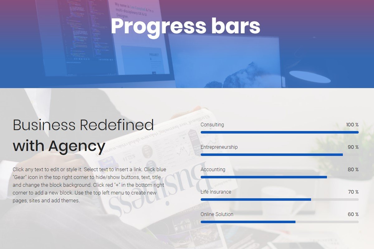 Mobile-friendly Progress Bars