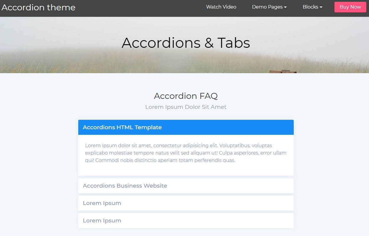 Responsive Accordion Tabs