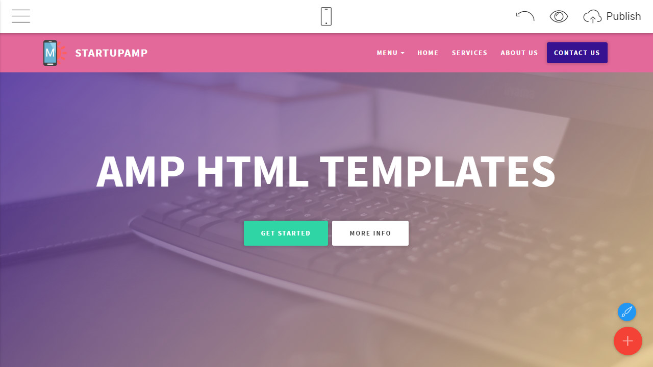 Amp html templates for your business website cheaphphosting Images