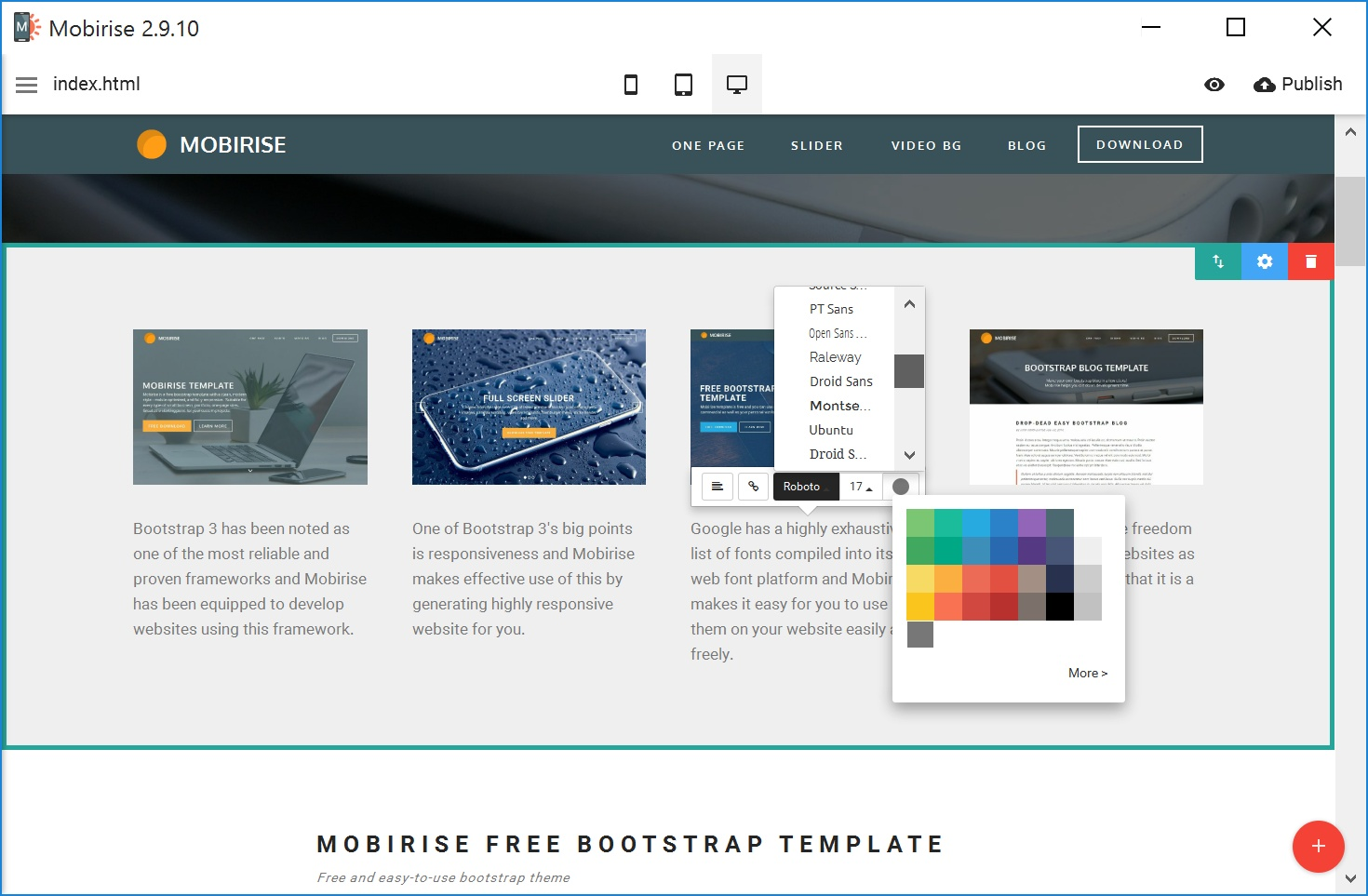 WYSIWYG Mobile Website Builder Software