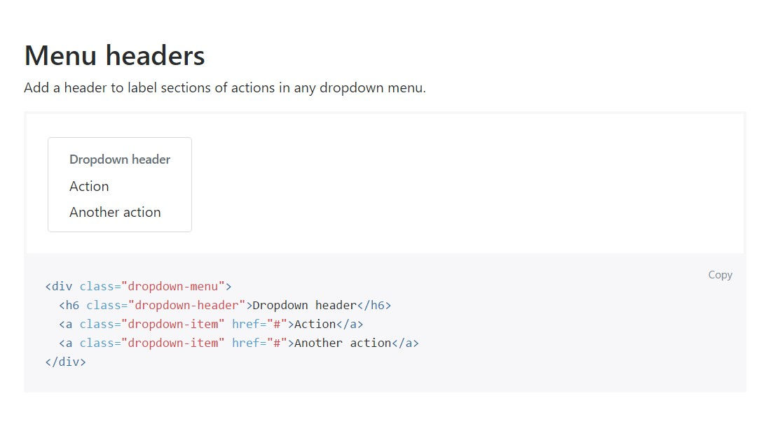 Bootstrap Header:  formal  documents