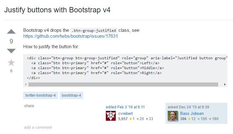 Support buttons with Bootstrap v4