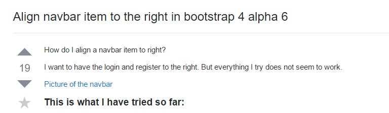 Align navbar  object to the right  inside Bootstrap 4 alpha 6