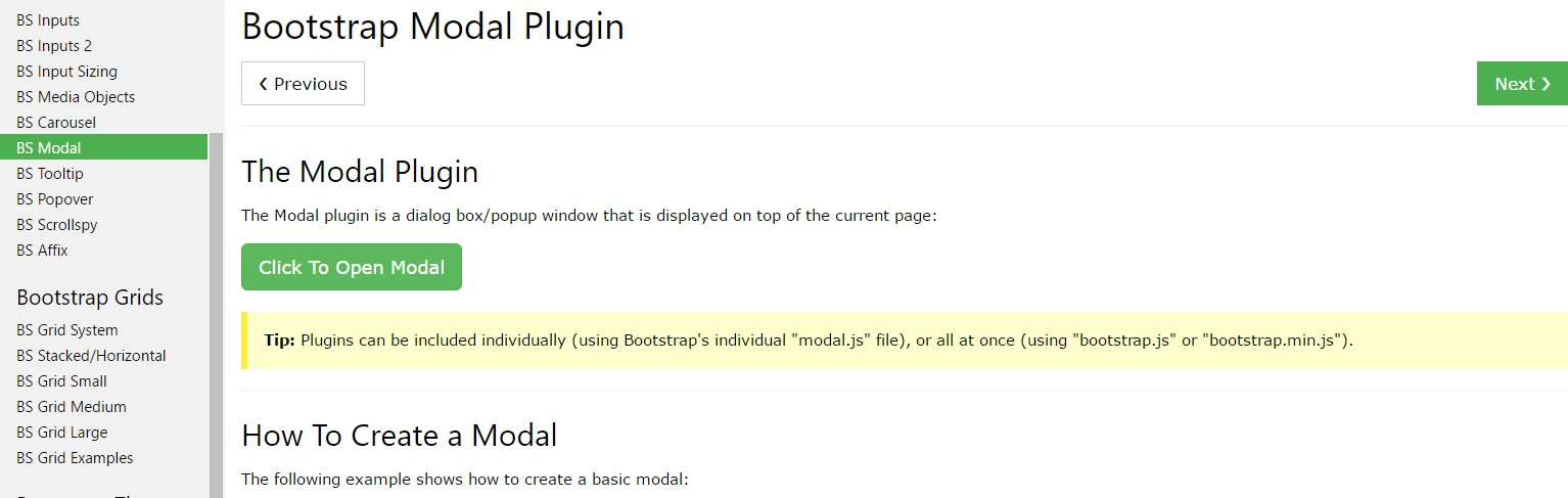 Bootstrap Modal Popup: tutorial  training