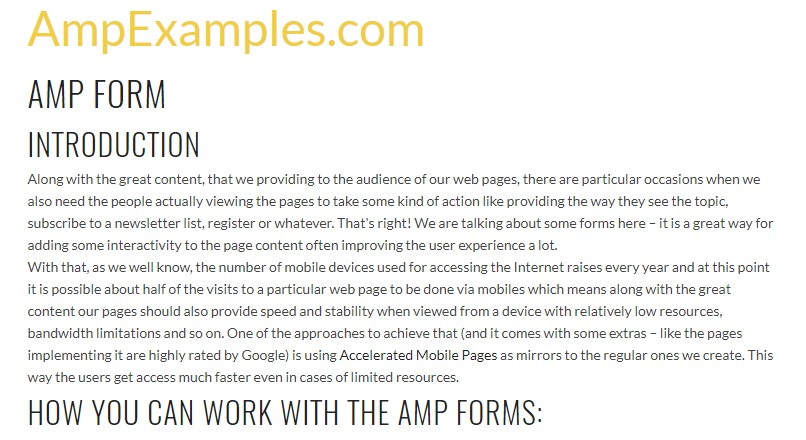 Why  do not we  check out AMP project and AMP-form element?