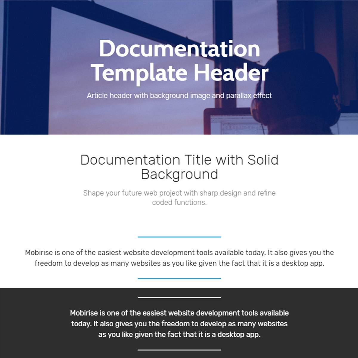 Free Bootstrap  documentation  Themes