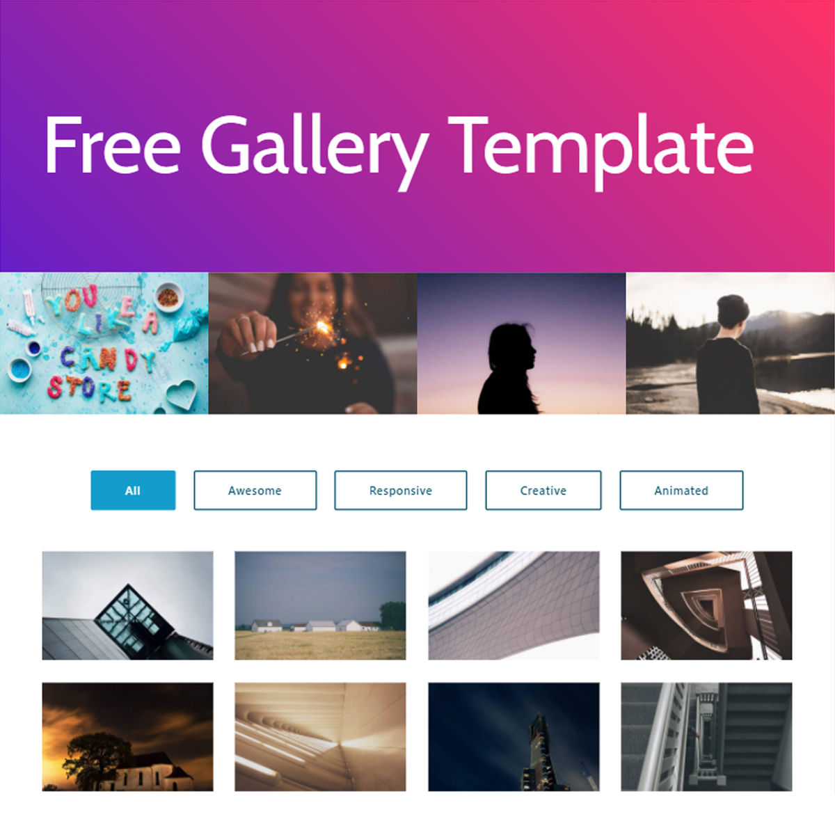 CSS3 Bootstrap  Gallery  Templates