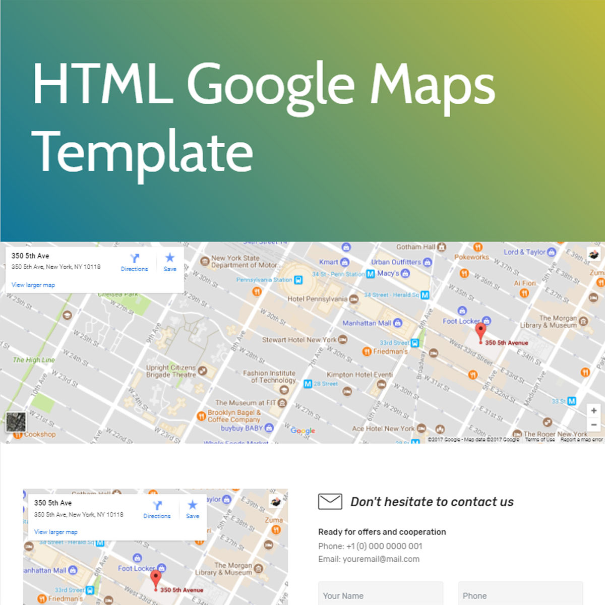 Mobile Bootstrap  google maps  Templates