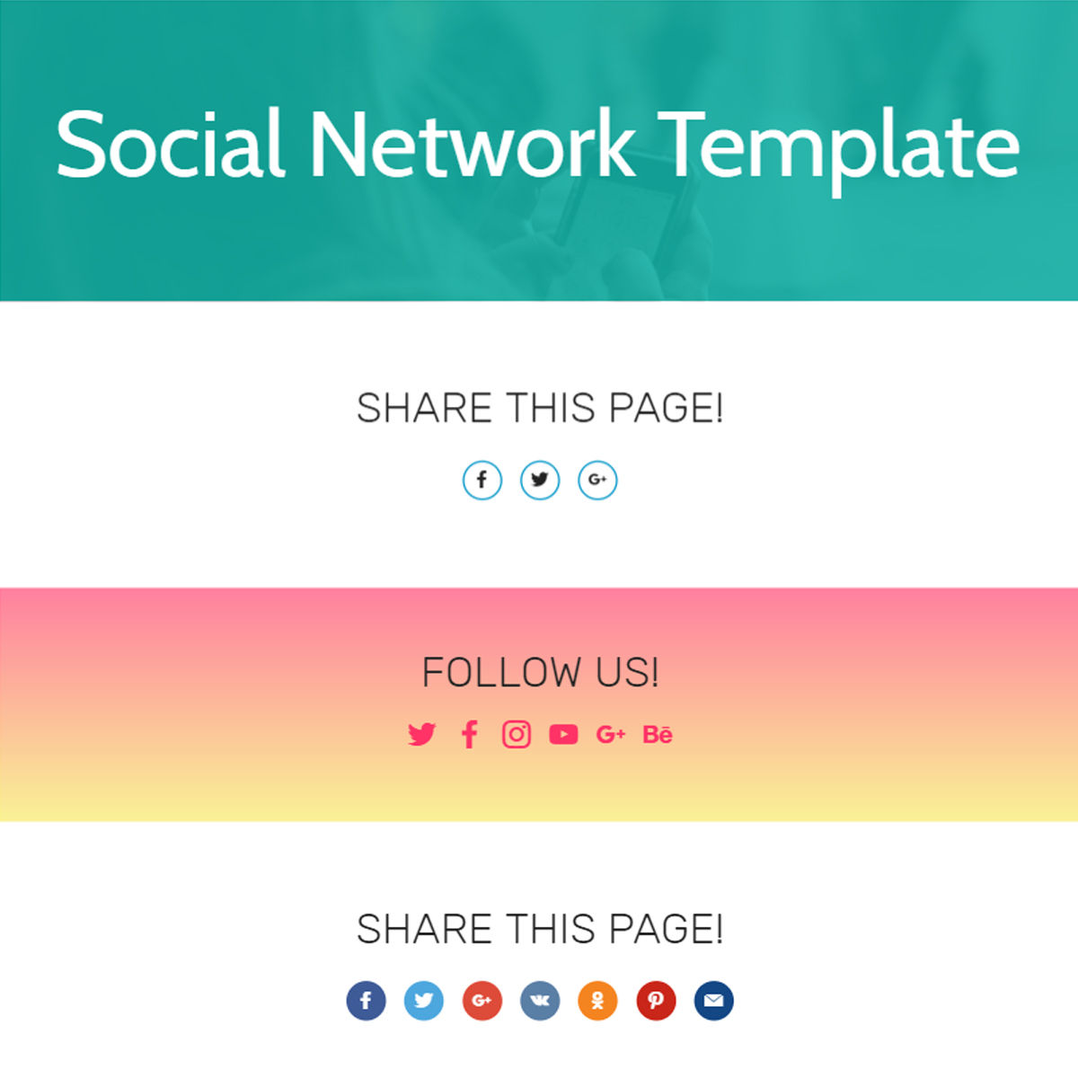 HTML5 Bootstrap  Social Network  Themes