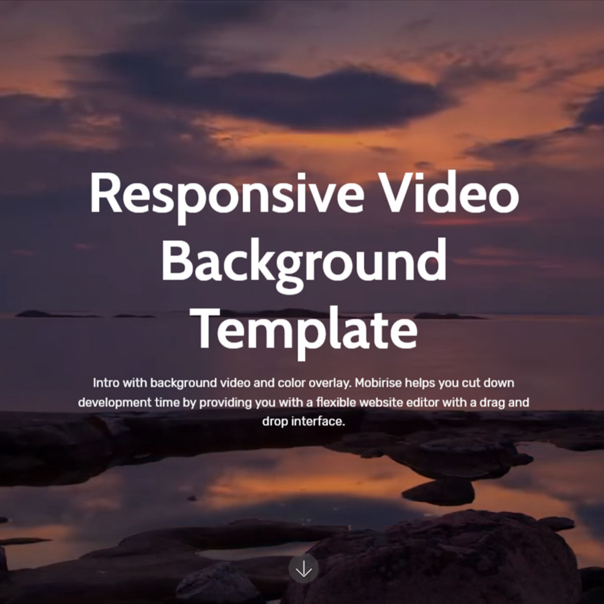 HTML Bootstrap  Video Background  Templates