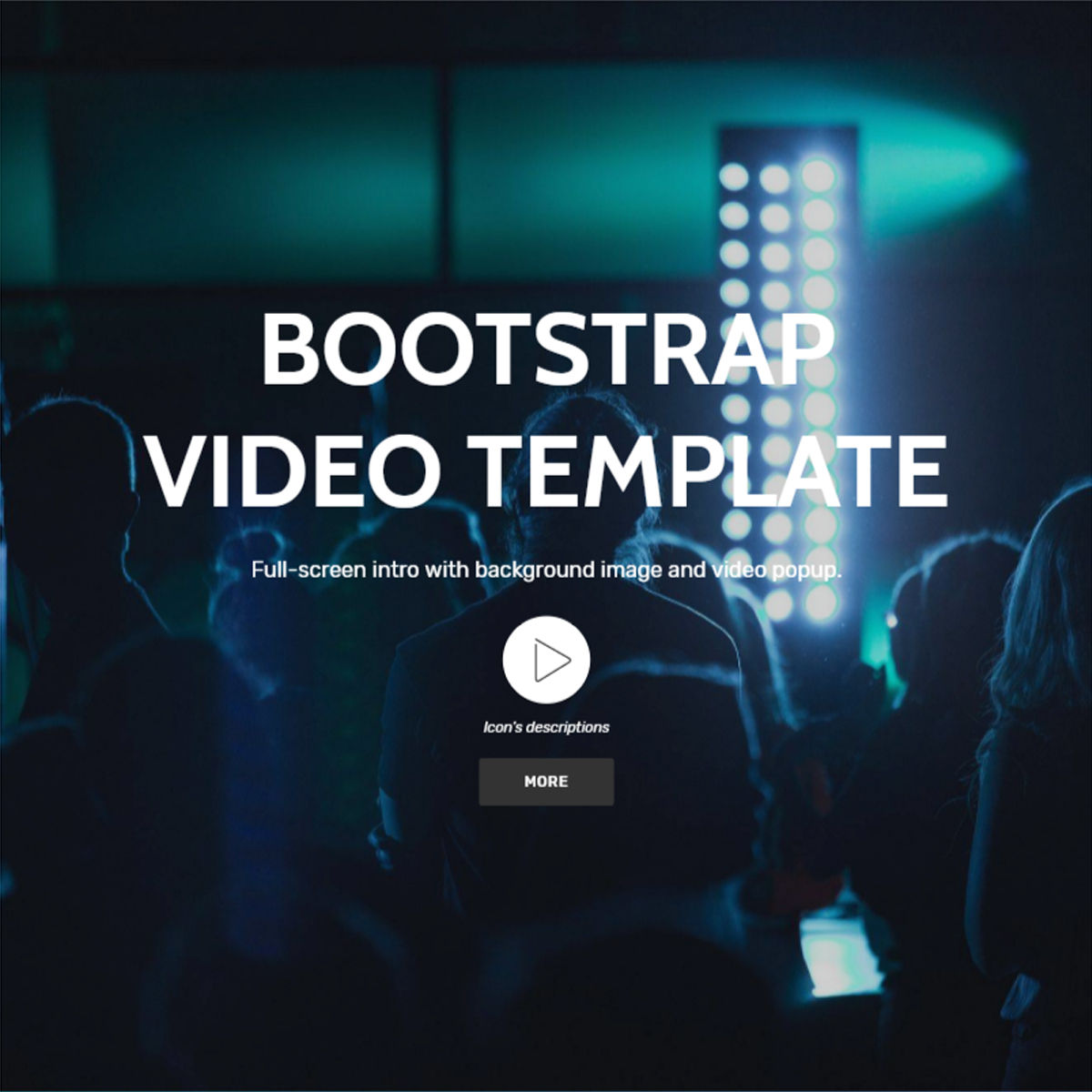 HTML Bootstrap  Video  Templates