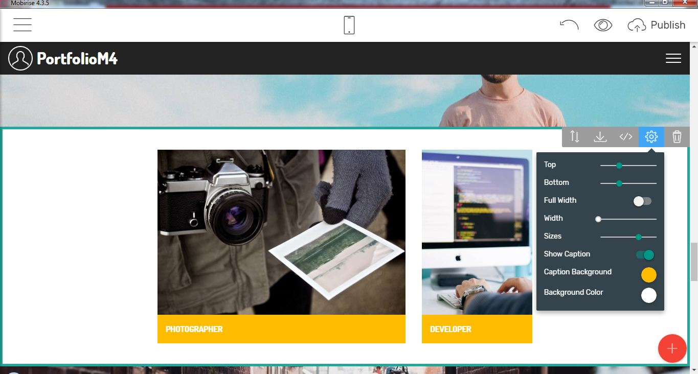 portfolio bootstrap template free