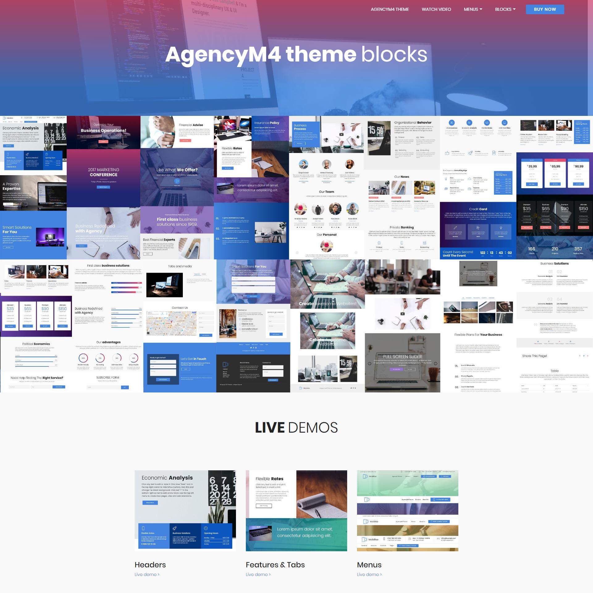 AgencyM4 Theme Bootstrap Blocks