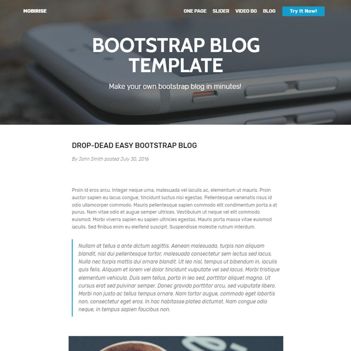 Bootstrap Blog Template