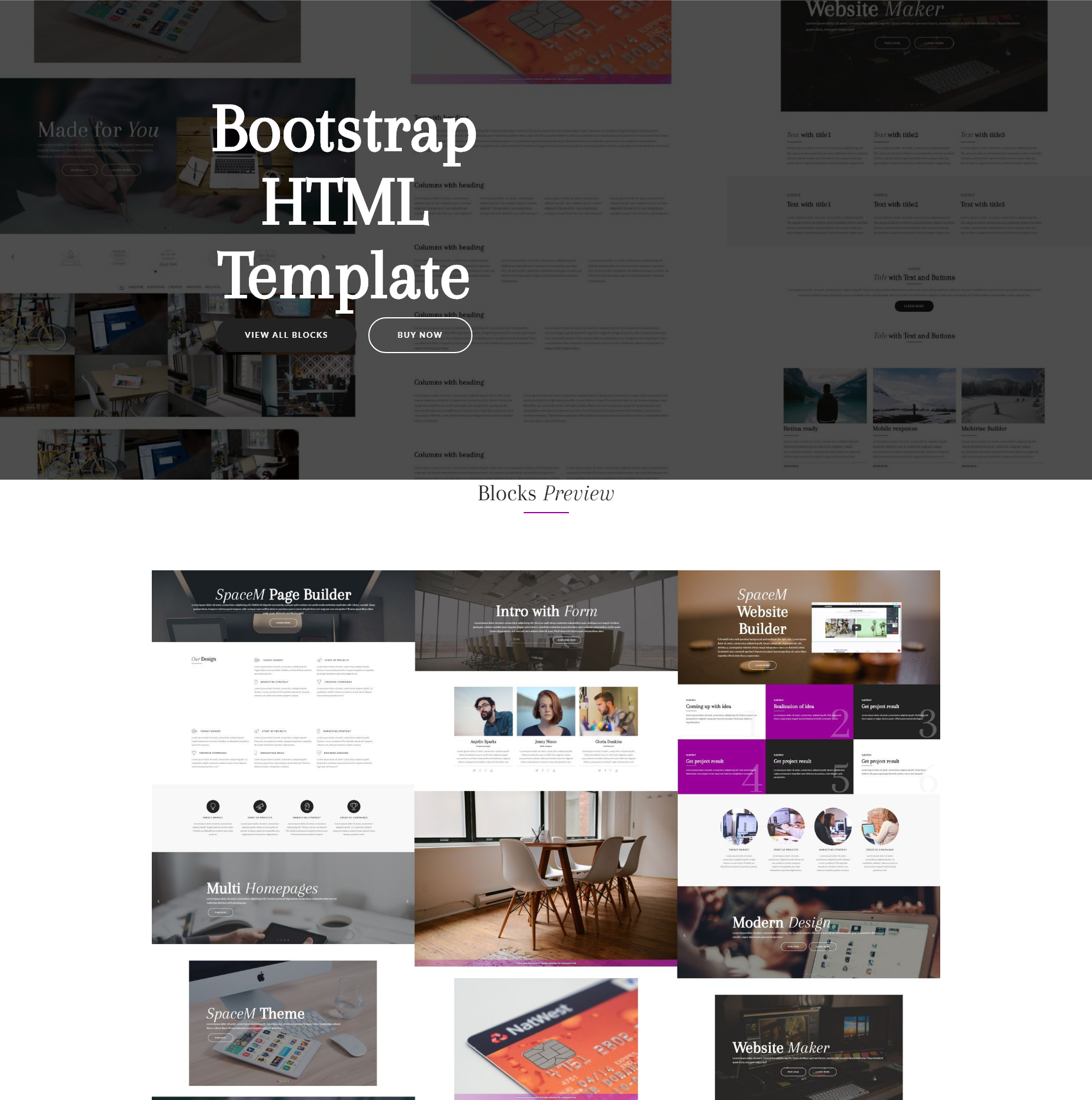 SpaceM HTML Bootstrap Template