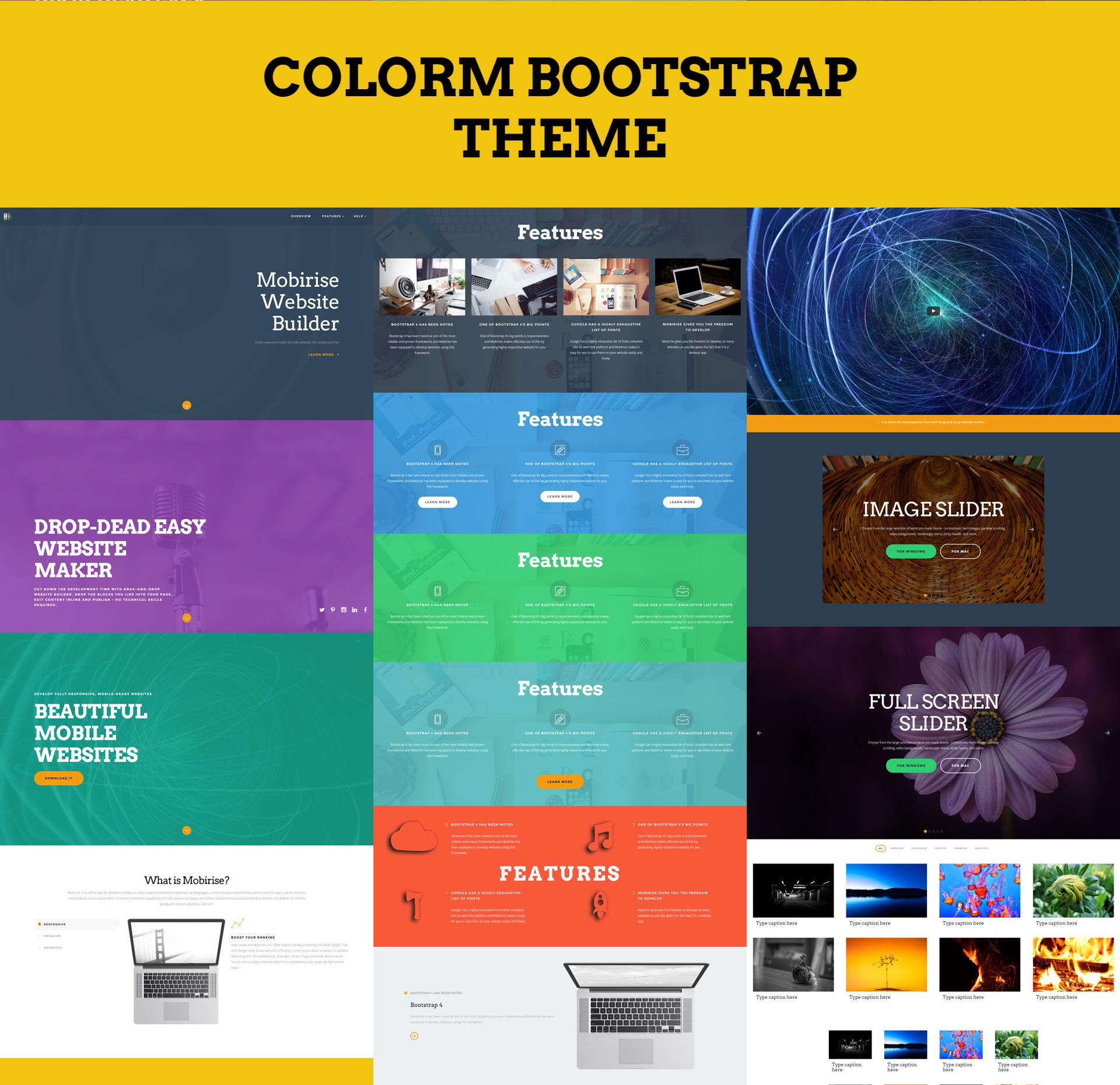ColorM Bootstrap Theme