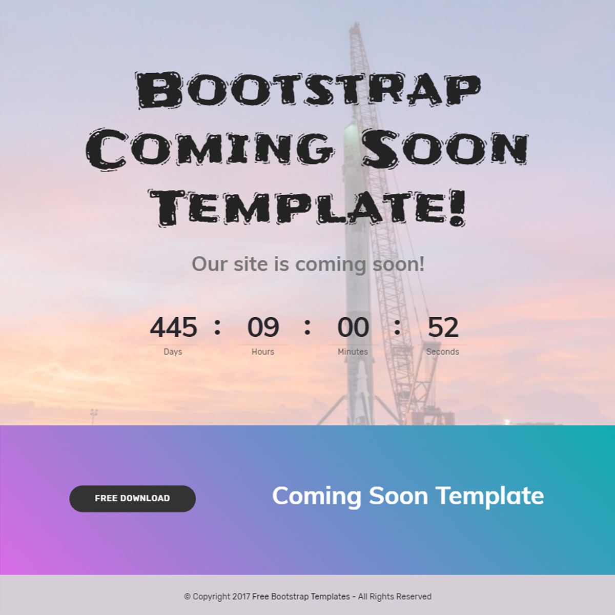 Bootstrap Coming Soon Template