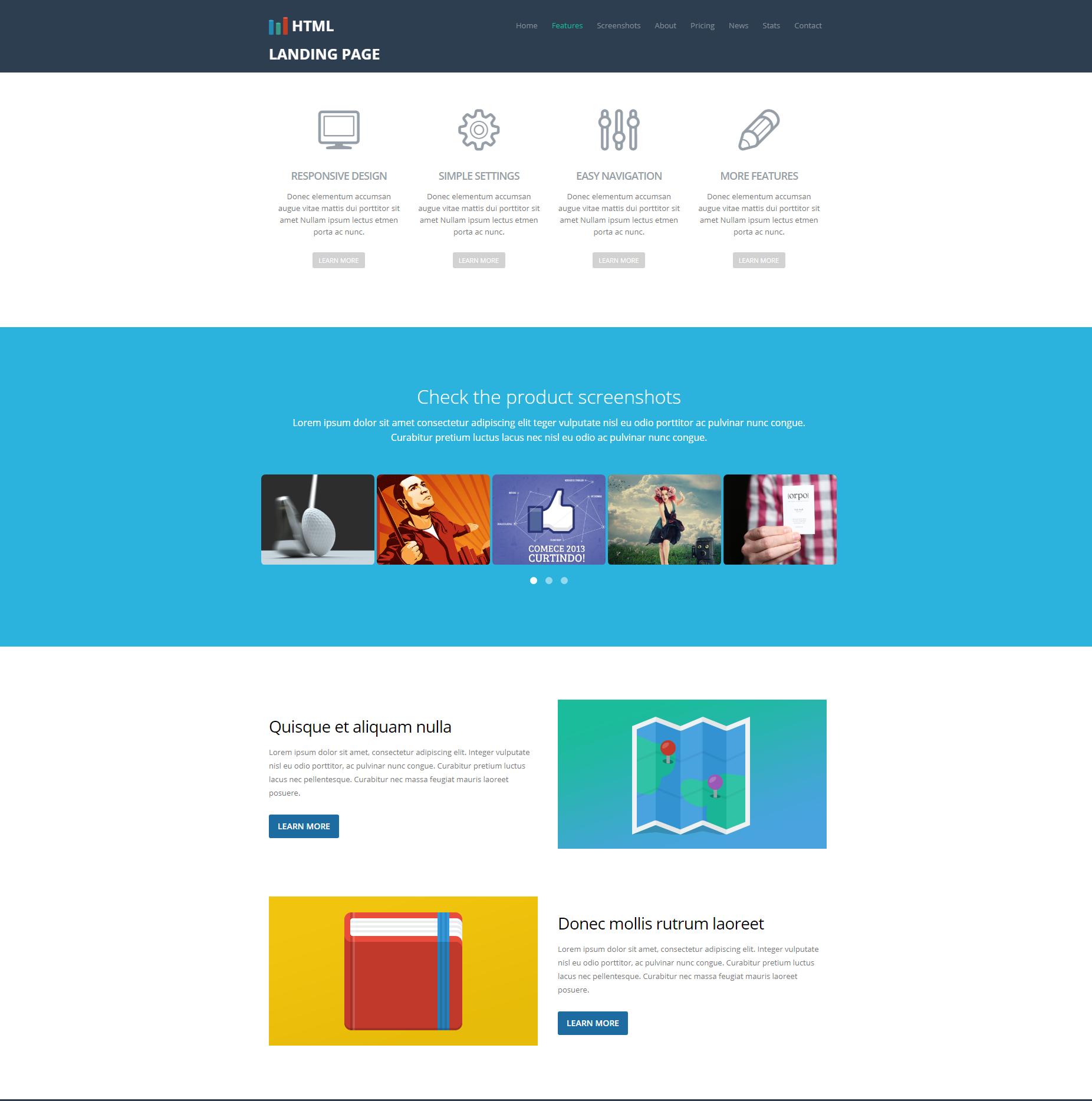 Multi-purpose Bootstrap Landing Page