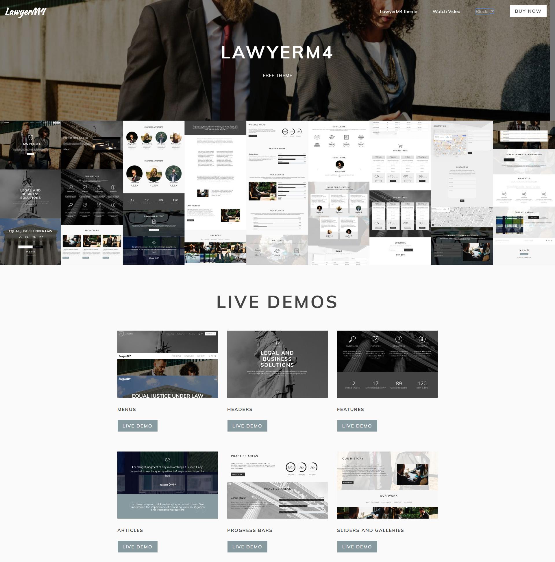 LawyerM4 Free Bootstrap Theme