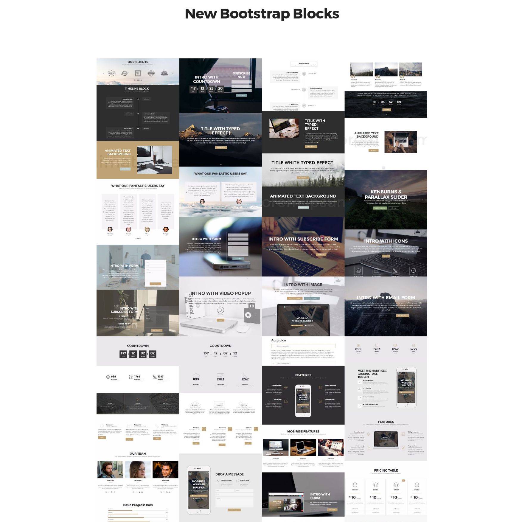 New Bootstrap Blocks