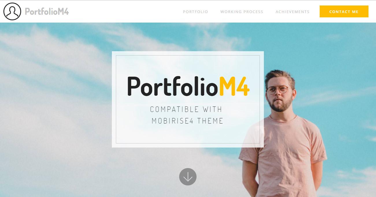 best portfolio bootstrap template