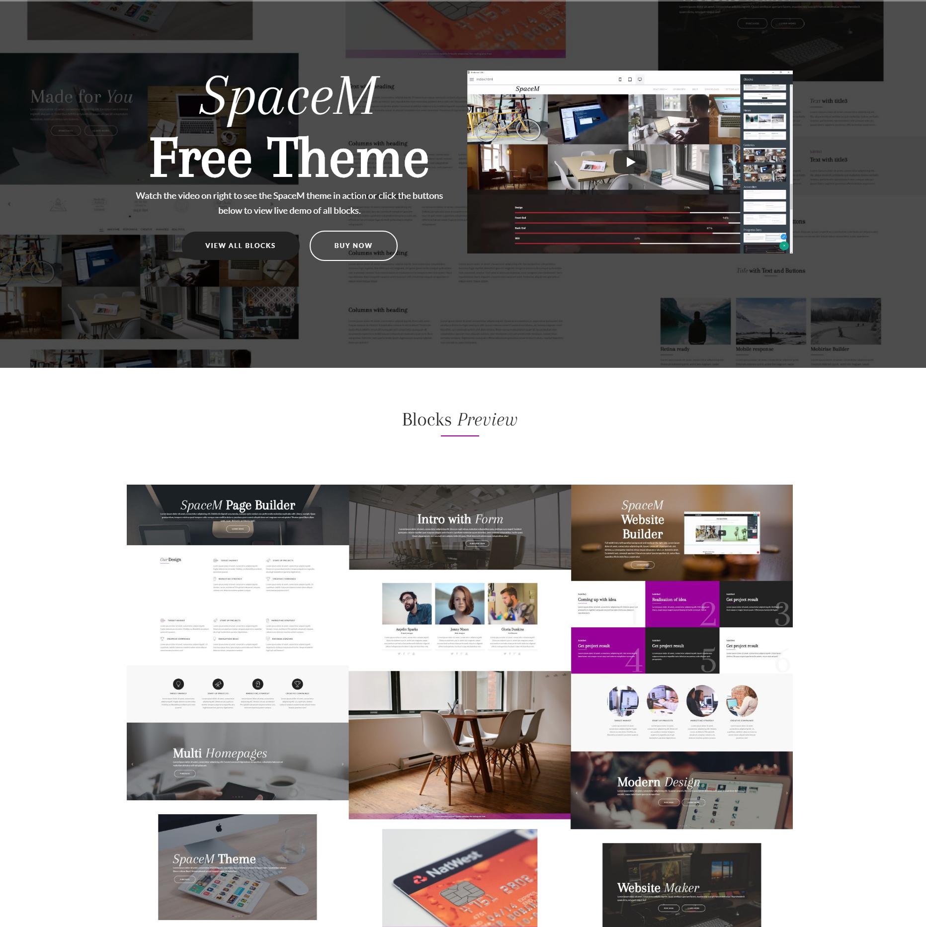 SpaceM Free Bootstrap Theme