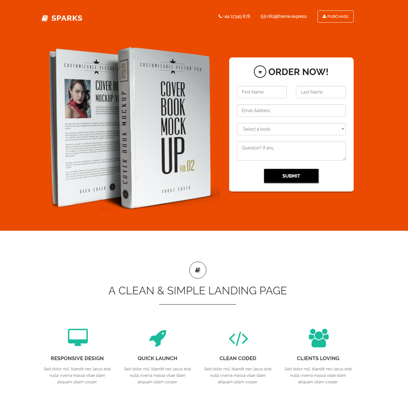Sparks Bootstrap Landing Page