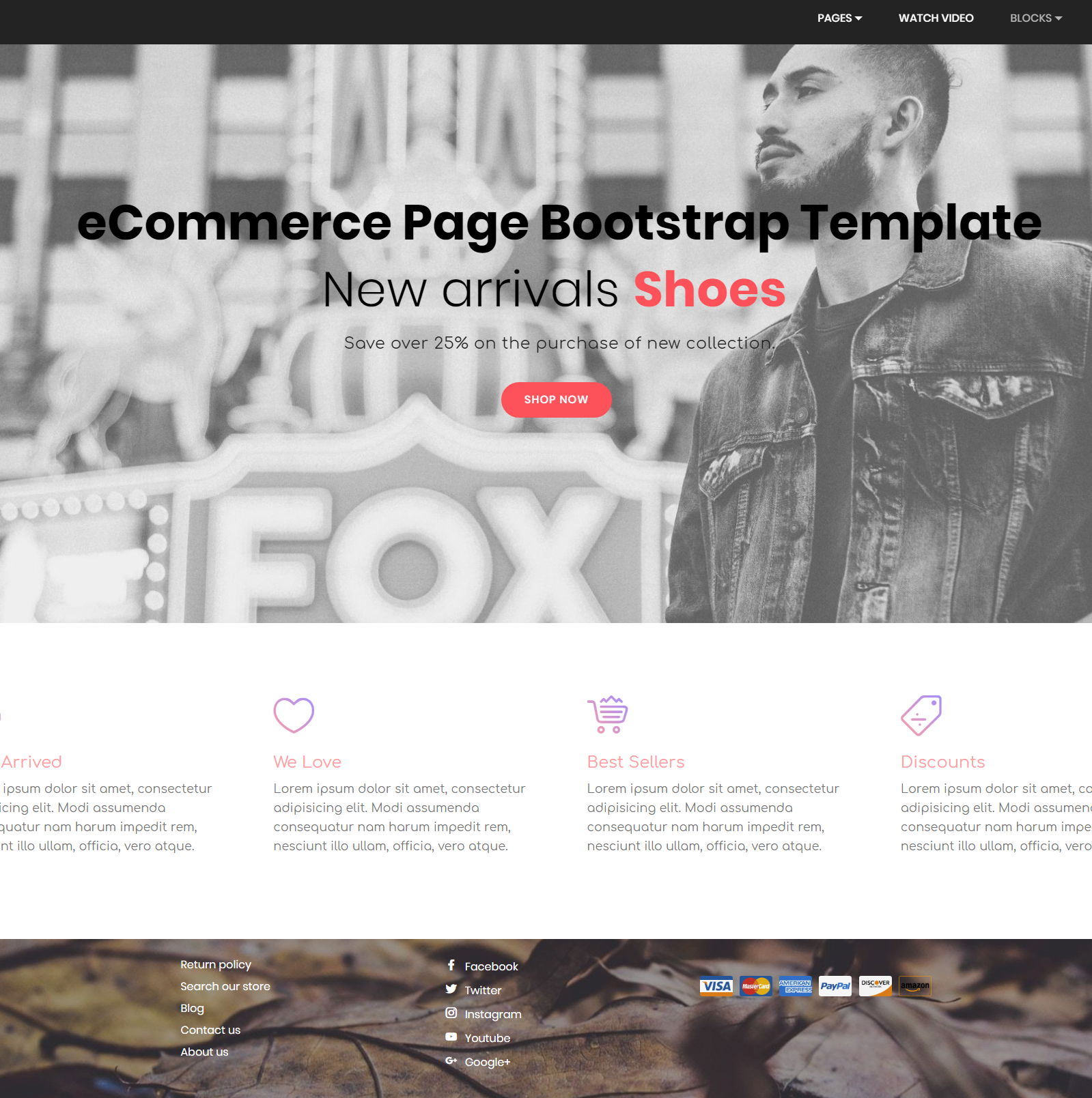 Bootstrap HTML eCommerce Page Template