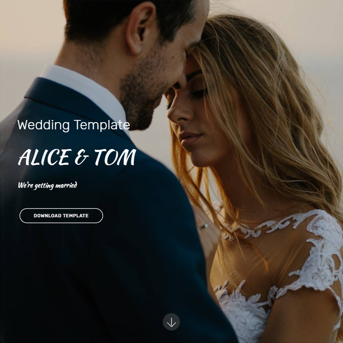Bootstrap Wedding Template