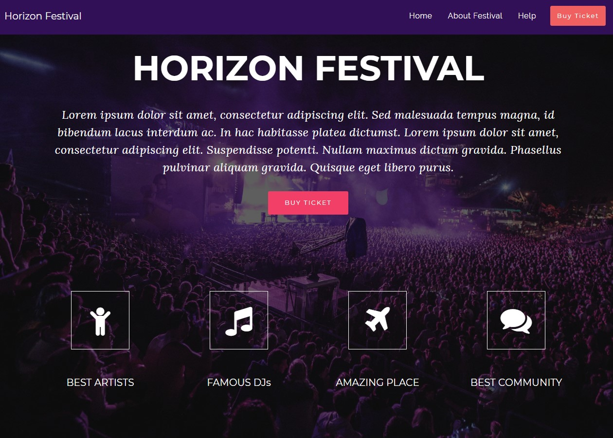 New Event AMP HTML Template