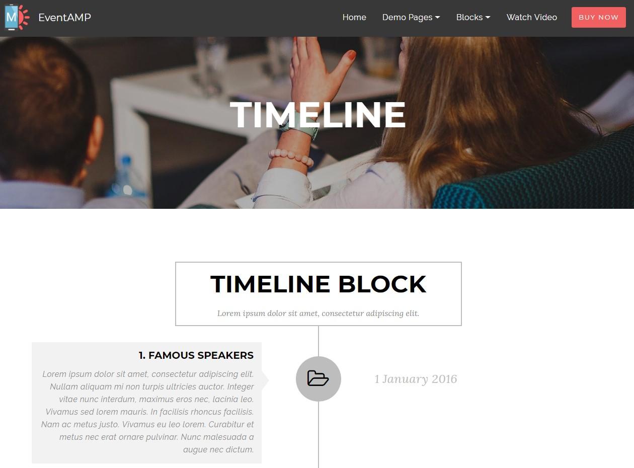 EventAMP HTML Timeline Templates