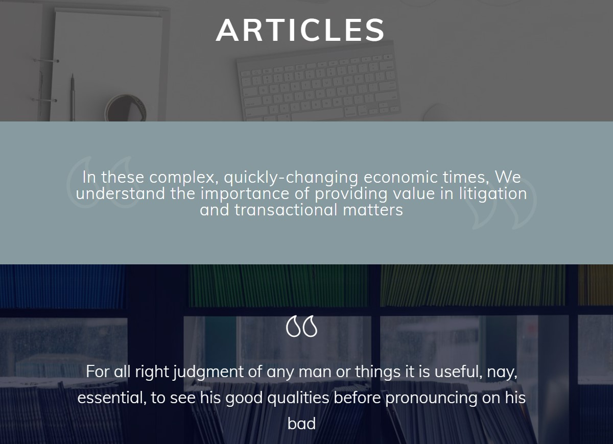 Articles Web Template
