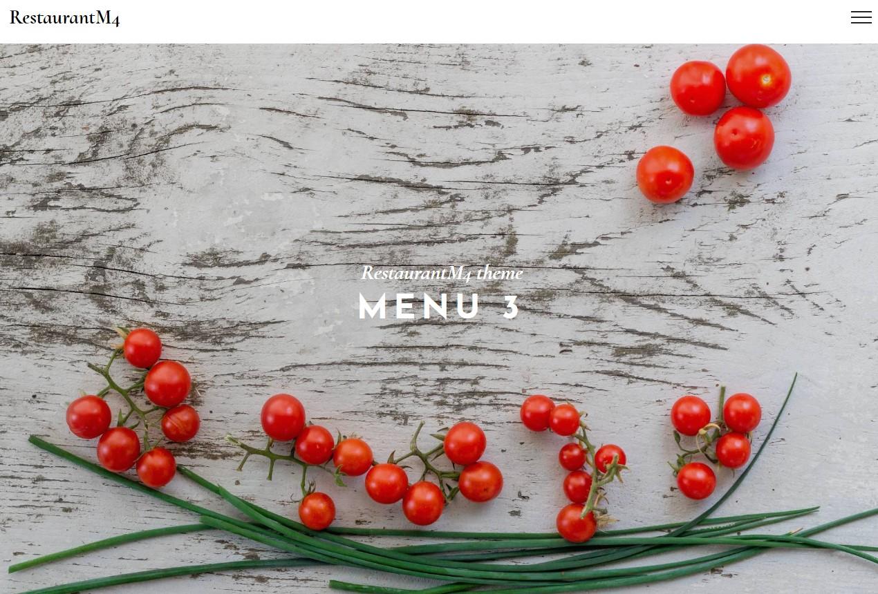 Best Bootstrap HTML Restaurant Menu Theme