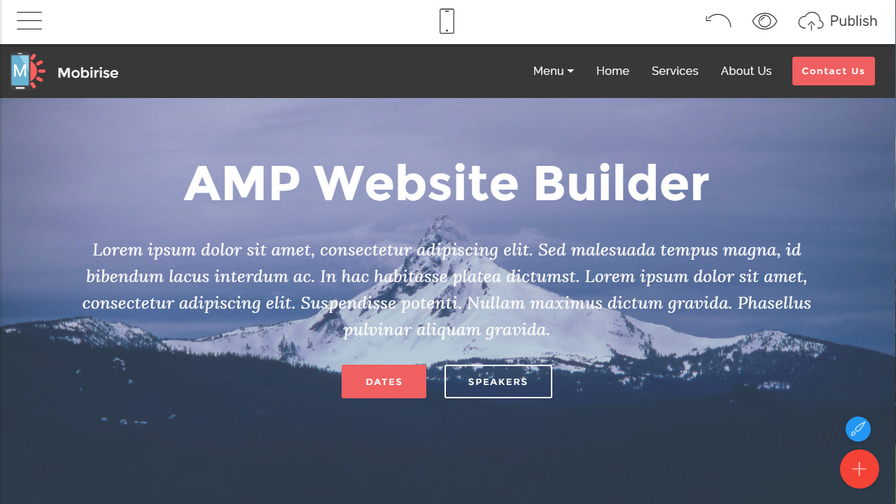 free amp bootstrap builder
