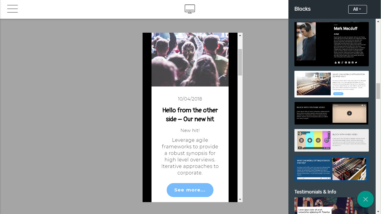 Google AMP Page Template