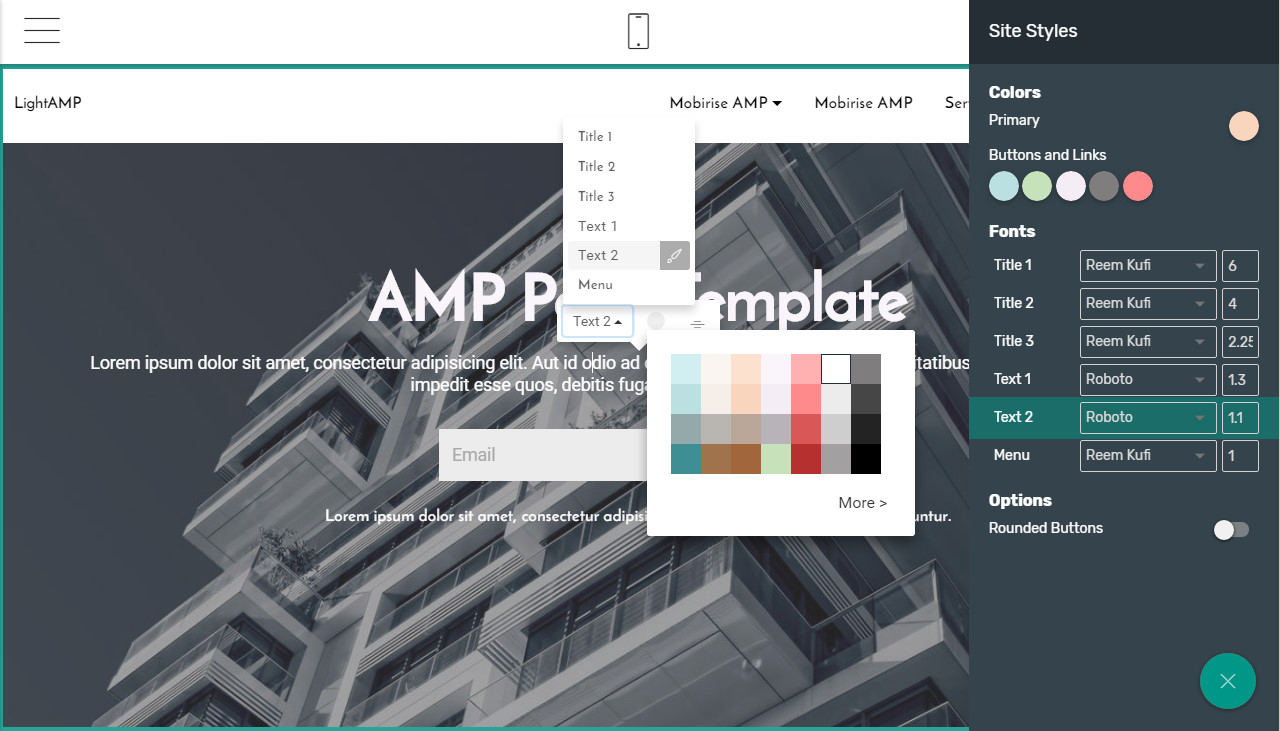 html bootstrap grid template